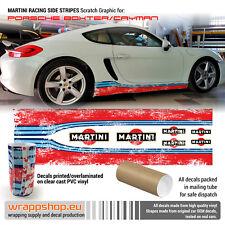 Porsche Cayman / Boxster Martini side stripes Scratch design decals set