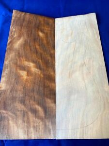 #379 Curly Flame Redwood Drop Top Luthier Guitar Figured Wood Bookmatched Set