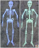 90cm GLOW IN THE DARK SKELETON Halloween Plastic Hanging Scary Spooky Decoration