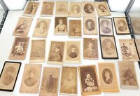 .LARGE JOB LOT 1860s 1870s RUSSIAN CARTE DE VISITE CDVs.  #1