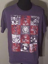 A Mickey Mouse Comic Book Walt Disney Donald Duck Goofy Mens XL Blue T-shirt