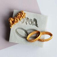 Love Letter Ring Shape Fondant Silicone Mold Chocolate Mold Cake Decor T TG