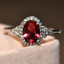 Silver Rings Engagement Gemstone Ring Silver Pink Quartz Ring For Women Jewelry