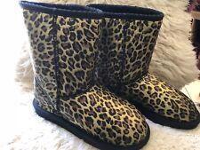 Jumbo Ugg Boots Australia - classic short  leopard - size US 5 -  Made In Au