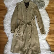 Dolce & Gabbana -Size 40- Women's Tan Lined Suede Trench Coat Dress Long Sleeve