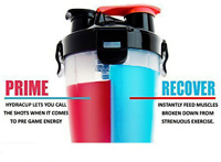 Dual Protein Powder Shaker Thick Durable Eco Friendly BPA Free Water Bottles New