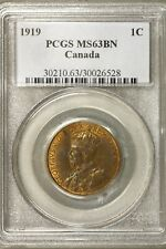 Canada 1919 1 Cent PCGS MS 63 BN