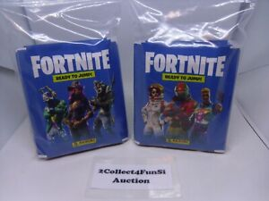 PANINI FORTNITE - READY TO JUMP 2019 Series 1 - 50 SEALED PACKS - 250 STICKERS