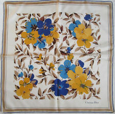 -  Foulard CHRISTIAN DIOR  soie  TBEG  vintage scarf  77 x 78 cm
