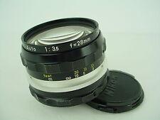 Nikon 28mm f/3.5 NIKKOR-H Auto Non Ai Nippon Kogaku Japan - Clean Glass