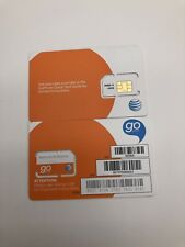 New At&T Sim Card Prepaid Go Phone Ready To Activate Standard Full Size 6006A