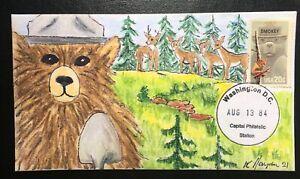 Smokey the Bear #2096 FDC, Kate Hayden cachet, Please plant a tree!!