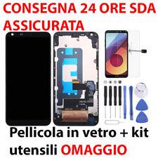 DISPLAY TOUCH LCD FRAME ORIGINALE LG Q6 Q6+ LG-M700 M700 M700A US700 M700H NERO