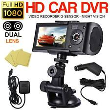 Dual Lens GPS Camera HD Car DVR Dash Cam Video Recorder Night Vision G-Sensor