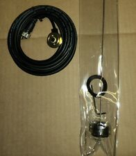 UHF or VHF ANTENNA & CABLE For Roof Mount 17' ft rg58 CABLE PL-259 Most Radio