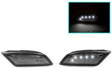 White LED Smoke Bumper Side Marker Light For 2012-2014 Mercedes W204 Coupe/Sedan
