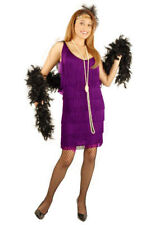 FLAPPER IN PURPLE HALLOWEEN COSTUME ADULT SIZE X-SMALL 3-5