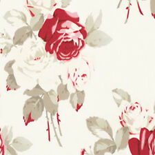 Tanya Whelan Petal Large Antique Roses Home Decorator Sateen Fabric Ivory SATW55