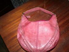 Liz Claiborne rosy/brown small shoulder bag/hobo purse, PVC/Polyester lining