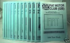 Parliamo - Fiat Motor Club (GB) Magazine -1994 Full Set