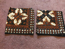 Collectible Handkerchief Set 2 Matching Black Brown Tan NICE