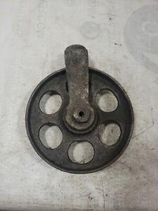 Vintage 7 1/2 Inch Cast Iron Industrial Cart Wheel Steampunk