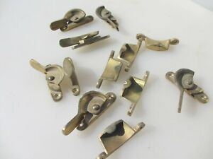 Late Vintage Brass Sash Window Latch Lock Catch Fastener Old Retro Job Lot Bulk