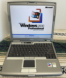 Dell Latitude D610 Legacy Windows 2000 Gaming Laptop Parallel Serial Infrared