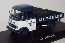 """MERCEDES l319 """"METZELER"""" con pneumatici bianco-blu 1:43 Schuco NUOVO + OVP 2915"""
