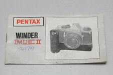 Original Instruction Manual - Pentax Winder ME II - English