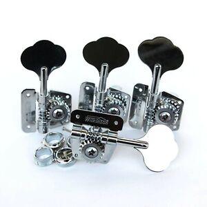 4R Wilkinson Open Frame Bass Tuners Machine Heads for Jazz J/P Bass WJBL-200-CR