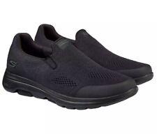 NEW Men's SKECHERS GO WALK Size 8 Black Comfort Walking Shoes Goga May Insole
