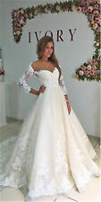 A-Line Wedding Dresses White/Ivory Bridal Ball Gown Custom Made Plus Size 2-28
