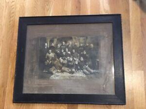 Rare 1900 Football Team Original Photo Great Early Football Photo Framed