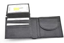 Mens Genuine Leather Wallet Photo ID Credit Card Bi-fold Coin Pocket Black