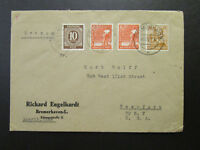 Germany 1947 Bremerhaven Cover to NYC - Z6814
