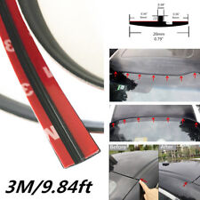 Rubber 9.84ft/3meter Seal Strip Trim For Car Front Rear Windshield Sunroof Black