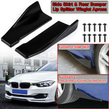 Car Side Skirt Extension Blades Rocker Splitter / Rear Bumper Winglets Canards