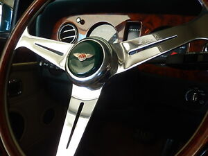 Bentley Turbo R Wood Steering Wheel 85 - 89 Nardi Gold B.R.G. LG Horn Button NEW
