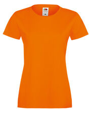 LADIES Fruit of the Loom T-SHIRT (17 Colours) - 100% Cotton, Fashion Fit