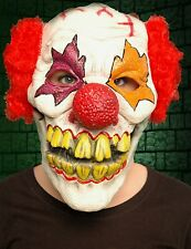 Scary Evil Menacing Adult Clown Mask Latex With Horrible Teeth
