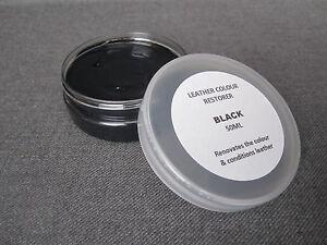 BLACK Leather Colour Restorer BMW Seats Leather Upholstery Repair Balm Car Dye