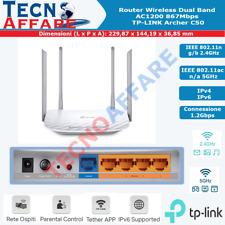 Router Wireless 867Mbps 4 Porte Lan 100 Mbps Dual Band AC1200 Archer Tp-Link C50