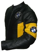 BMW 2021 Hommes Moto Veste en Cuir Courses MOTOGP Motard Blousons Cuir Armure CE