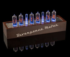 IN-14 Small Grid, Vintage NIXIE Tubes Clock,, USB, Divergence Meter [GRA&AFCH]