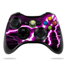 Skin Decal Wrap for Microsoft Xbox 360 Controller sticker Purple Lightning