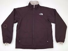 NORTH Face WOMENS Coat JACKET Medium SIZE Sz M Brown FULL Zip AALS Women LOGO***