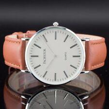 Reloj Pulsera PACIFISTOR de Hombre de Mujer Vestido De de Cuarzo Vintage De Cuero Simple Sport