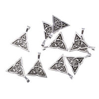 triquetra trinity celtic knot pagan Tibetan Silver Bead charms pendant 5pcs