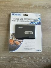 Jensen Stereo Usb Cassette Player With Encoding to Computer Mp3 Encoder Jscr-50
